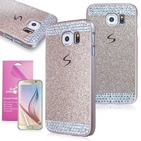 EpicGadget Glitter Bling Crystal Rhinestone Case for Samsung Galaxy S6 with Screen Protector