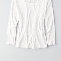 AEO Women's Soft & Sexy Ribbed Baby T-shirt (White)