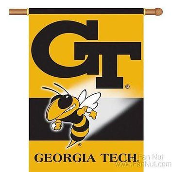 Georgia Tech Yellow Jackets 96049 2-sided 28x40 Banner w/Sleeve Flag University