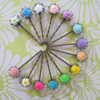 Pretty Shades of Color Hair Bobby Pin Set