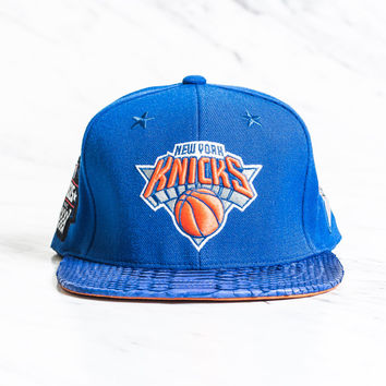 Just Don New York Knicks Logo w/ 4 All Star Patches - Blue