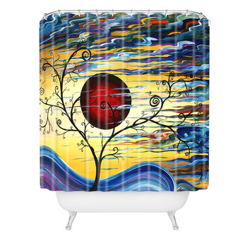 Madart Inc. Curling With Delight Shower Curtain