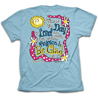 Cherished Girl Funny This is the Day Lord Made Rejoice Girlie Christian Bright T Shirt
