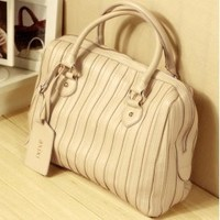 Casual Style Up Stripe Apricot Handbags  : Wholesaleclothing4u.com