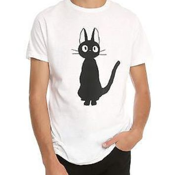 "Licensed cool JIJI CAT ""KIKI'S DELIVERY SERVICE"" Anime Studio GHIBLI Film ADULT UNISEX T SHIRT"