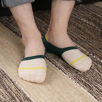 1Pair 2017 Winter Autumn Warm Men Cotton Loafer Boat Non-Slip Invisible Low Cut No Show Socks