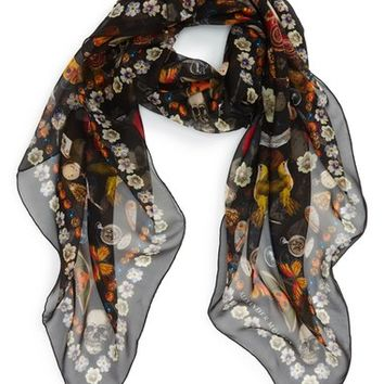Alexander McQueen 'Obsessions' Silk Chiffon Scarf | Nordstrom