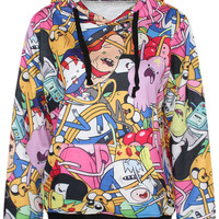 Cartoon Family Print Hoodie
