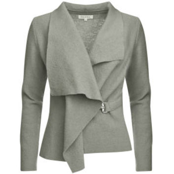 GROA Women's Boiled Wool Jacket - Light Grey Womens Clothing - FREE UK Delivery