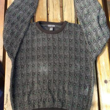 Vtg Jantzen Sweater Multicolred Geometrical knit sweater Size Medium
