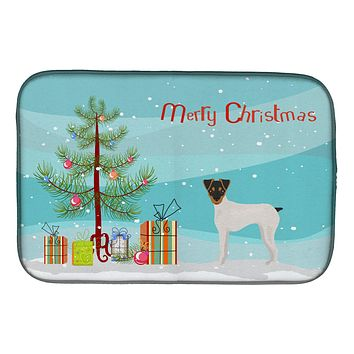 Japanese Terrier Christmas Tree Dish Drying Mat CK3464DDM
