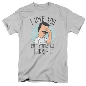 ac NOOW2 Bobs Burgers - Love You Terribly Short Sleeve Adult 18/1