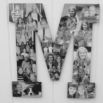 Custom Collage Photo Letter, Engagement gift, Engagement photos