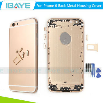 Full Back Battery Cover For iphone 6 Middle Frame Metal Back Housing For iphone6 4.7 battery case cover housing with sim tray