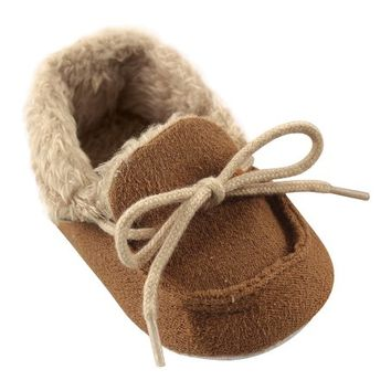 Chestnut Fleece Moccasin - Boys