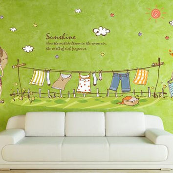 lA few meters cartoon icon, household adornment wall stickers in the removable wall stickers on the wall SM6