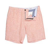 Cumberland - Salmon Irish Linen Shorts