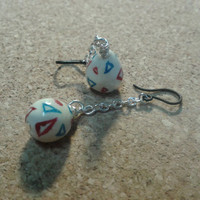 Togepi Egg Dangle Earrings by CartersClay on Etsy