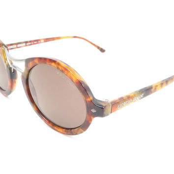 Giorgio Armani AR 8072 5191/53 Striped Havana Sunglasses