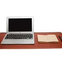 Handmade Cowhide Leather Mat - Leather Handcraft Mouse Pad / Mousepad Mat - Leather Office Mat