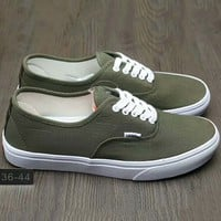 Vans Fashion Casual Classic Canvas Leisure Shoes Army green G-A0-HXYDXPF