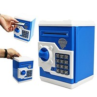 Ainypiggy-bank Code Electronic Money Bank Piggy Money Banks Coin Saving Banks ATM Safty Banks,black