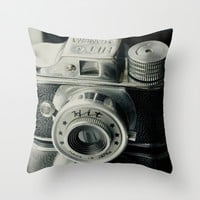 Hit Vintage camera Throw Pillow by Irène Sneddon