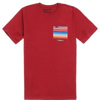 Hurley Blanket Pocket T-Shirt - Mens Tee - Red