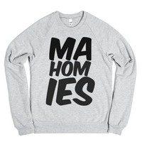 Mahomies-Unisex Heather Grey Sweatshirt