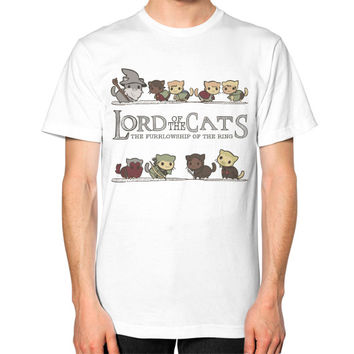 Lord of the cat Unisex T-Shirt (on man)