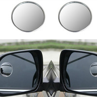 "EDFY 2 x 1.9"" Dia Round Metal Clear Car Rear View Mirror Blind Spot Mirror Parking Round Convex Auto Exterior Accessories"