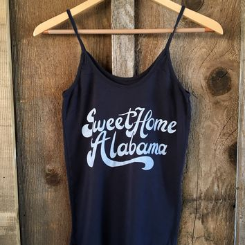 Sweet Home Alabama Sissy Tank Blk/White | Bandit Brand General Store