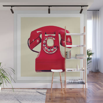 Red phone Wall Mural by jessycat