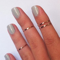 4 Above The Knuckle Rings - Rose Go.. on Luulla