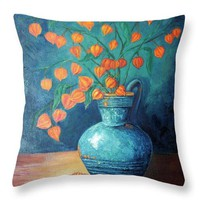 Chinese Lanterns - Throw Pillow