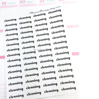 "60 ""Cleaning"" Word Planner Stickers! LF224"
