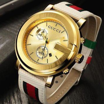 Gucci watches with Louis vuitton bracelets and Cartier rings, men's and women's fashio