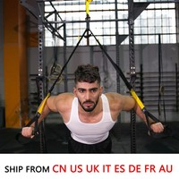 (Ship From 8 Countries) Resistance Bands Sport Equipment Strength Trainer Belt Hanging Strap Spring Exerciser Workout Home