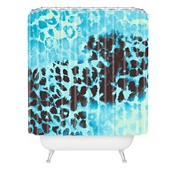 Caleb Troy Snow Leopard Shower Curtain