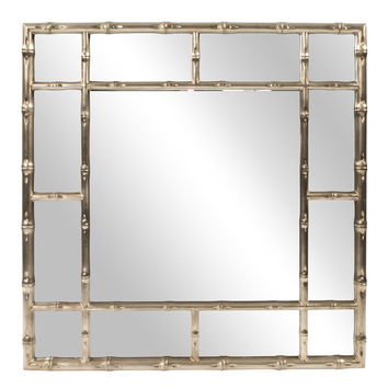"Howard Elliott Bamboo Country-Silver Mirror 40"" x 40"" x 1.1/2"""