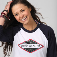 Camp Shred Academy Baseball Tee