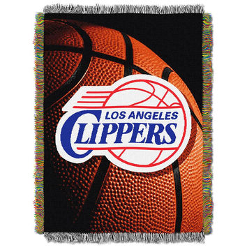 Los Angeles Clippers NBA Woven Tapestry Throw Blanket (48x60)