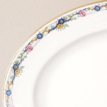 Limoges Floral China Platter