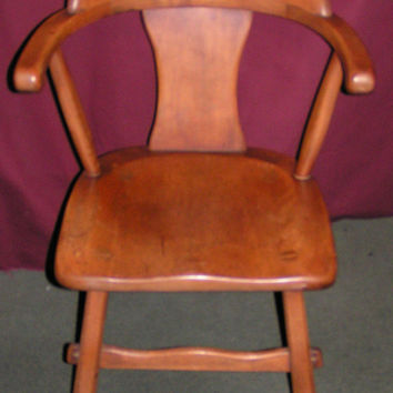 Vintage Sikes Maple captains Chair - Lovely Piece For Any Decor!