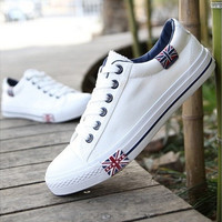 Mens Fashion Sneakers Canvas Shoes white black blue England Logo Eur Size 39-44 [8822146819]