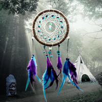 Dreamcatcher for Your Wall With Indian Style Feathers