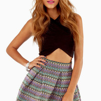 English Rose Lots Of Lines Skirt $48