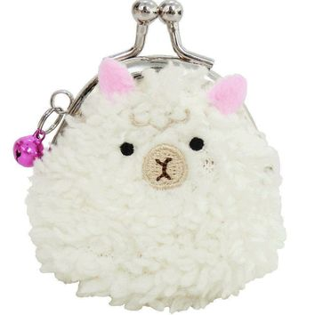 Small Alpaca Snapping Coin Purse