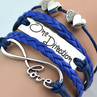 Free Shipping on All Orders for US & Canada Only, Infinity love one direction Bracelet