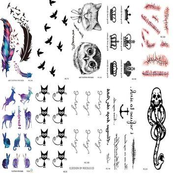 10 PCS  Tattoo sleeve  Body Art Flash Waterproof Temporary Tattoos Sticker Body Art